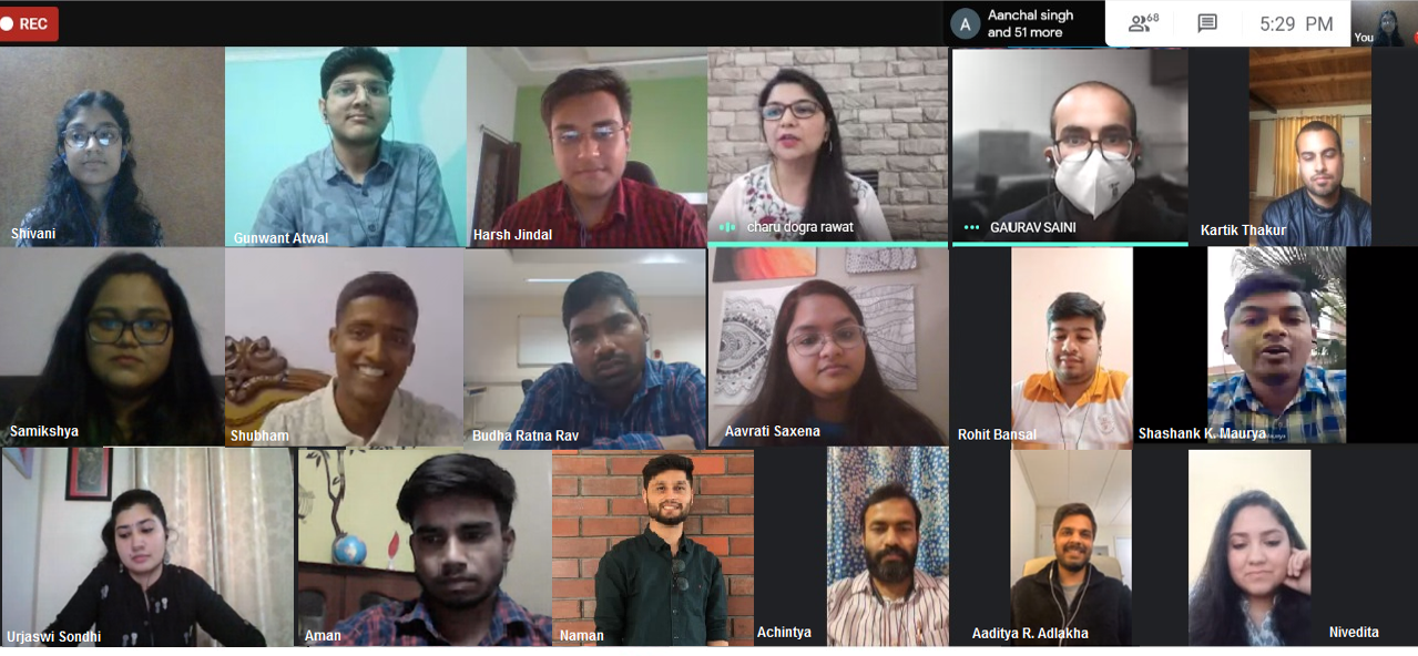 A screenshot of the 'icebreaker' session conducted by ASMI