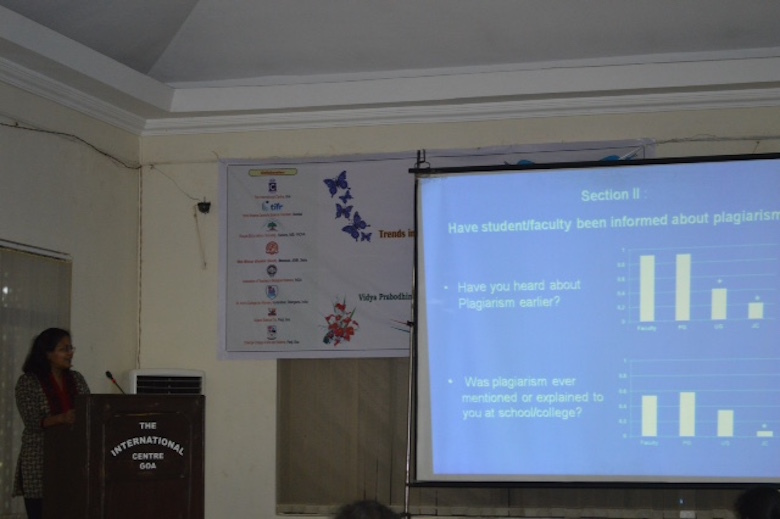 Sharing survey findings at Asian Association Biology Educators conference in Goa, study author Hema Ramachandran