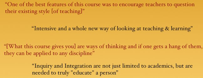 Course feedback from select participants