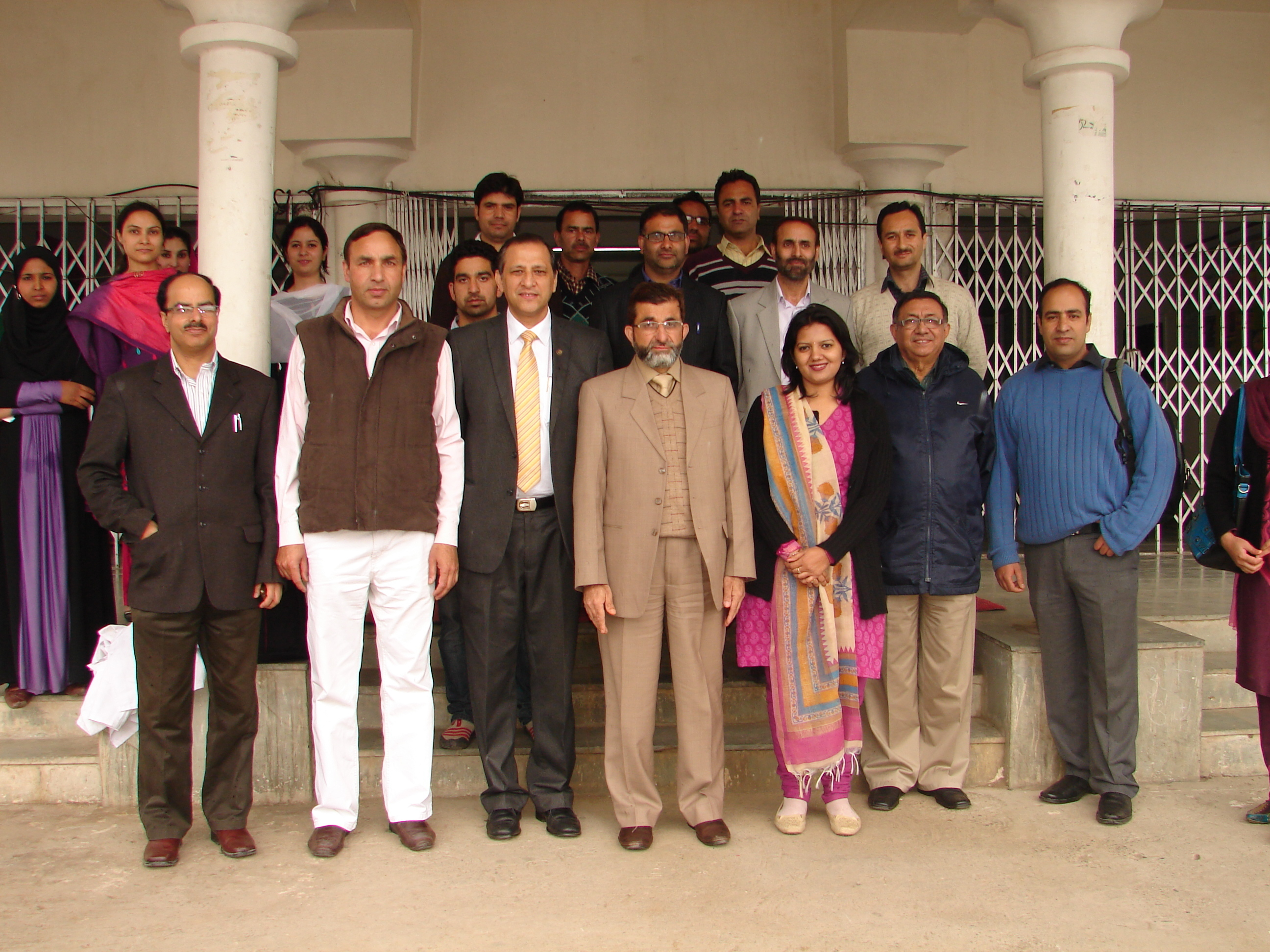 BCIL evaluation team at Sher-e-KashmirUniversity, Srinagar