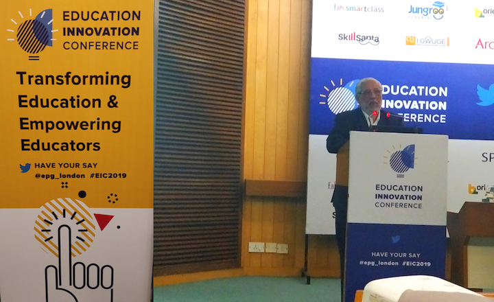 Anil Sahasrabudhe, Chairman, AICTE speaking at EIC 2019