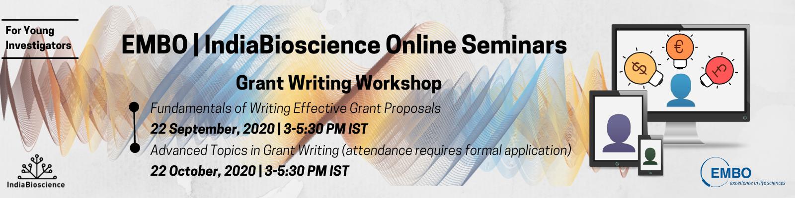 EMBO India Bioscience Grant Writing YI Banner Final2