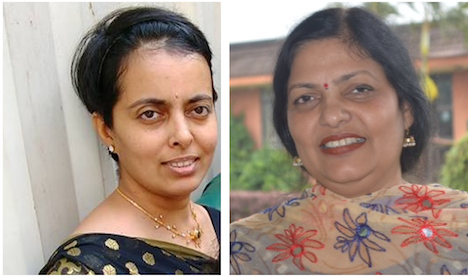 Sushama Yermal (left), Sarita Kumar (right)