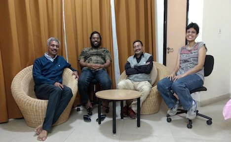 Indian contributors to the debate on NCT (from left to right: NG Prasad, Sutirth Dey, Amitabh Joshi and TNC Vidya)