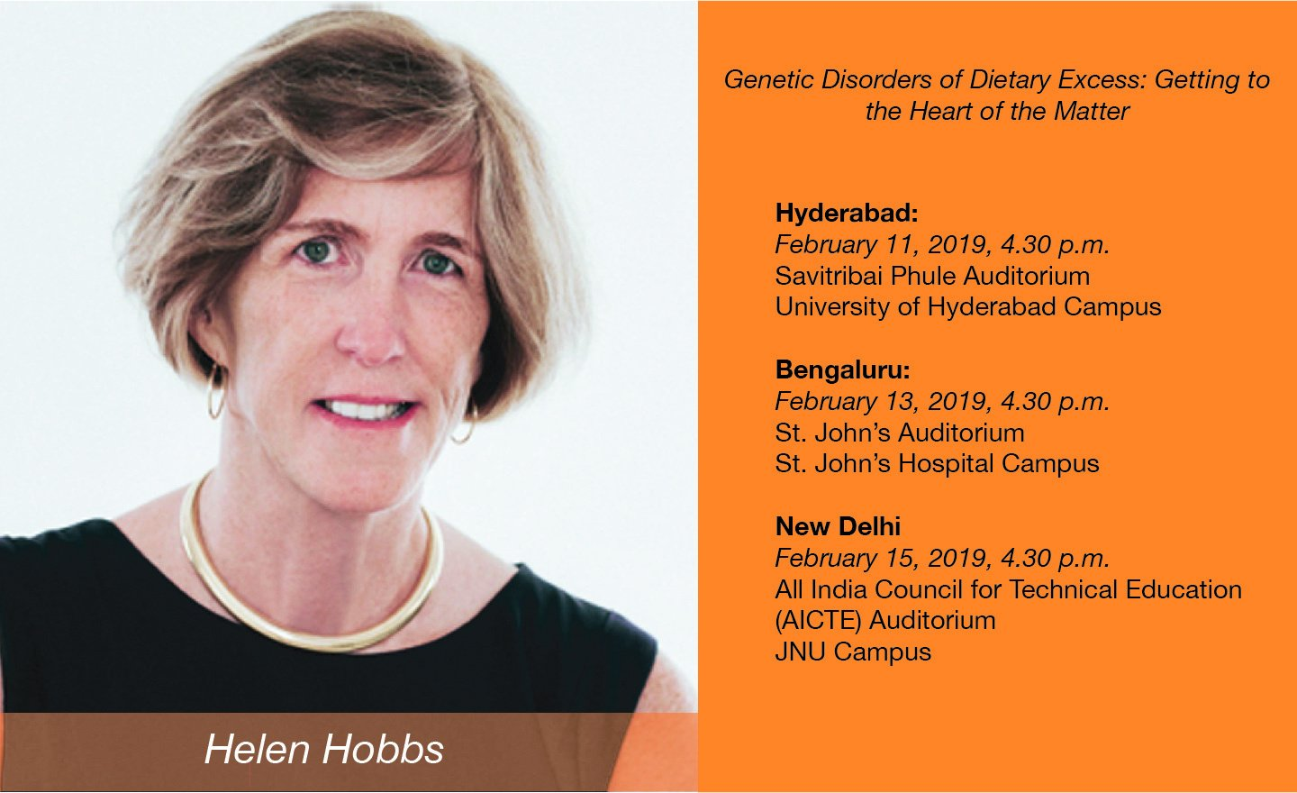 Helen Hobbs, Speaker for the 2019 series
