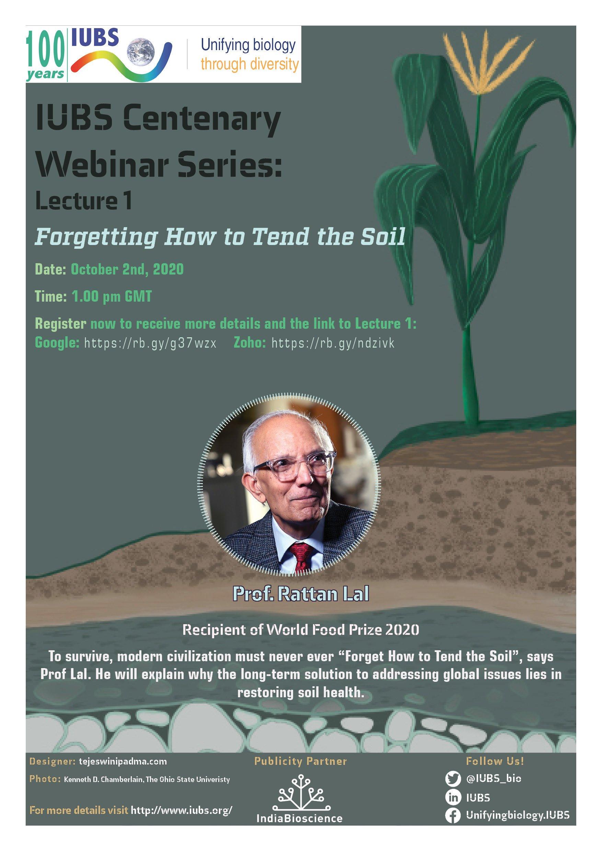 IUBS Webinar Series Lecture 1 Poster JPG