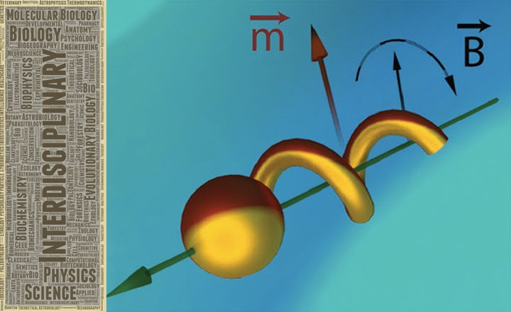 Schematic of the magnetic nanomotor actuation scheme