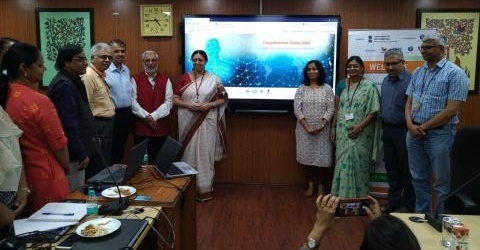 Dignitaries at the launch of the MANAV Project in New Delhi