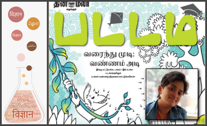 A view of Pattam's front page (inset: Narmadha Devi)