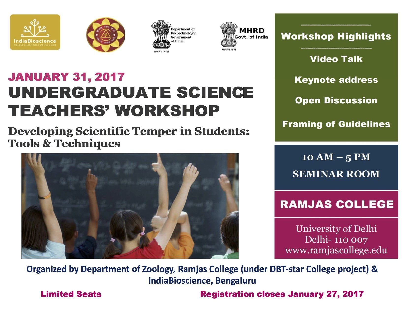 Ramjas Ibs Ug Workshop