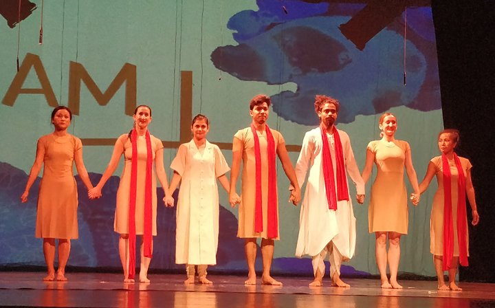 'I am +' performers on stage