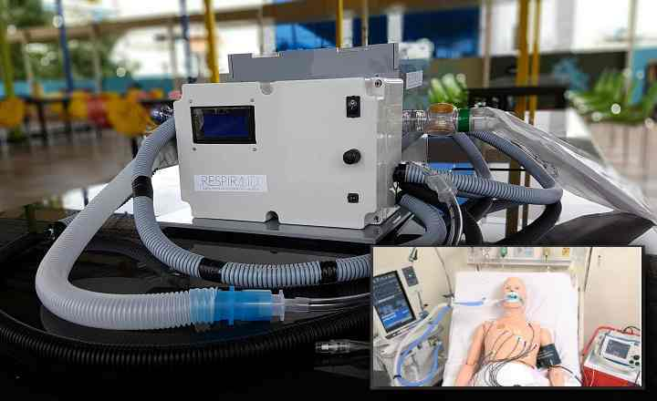RespirAID a portable breathing support system developed by Biodesign Innovation Labs