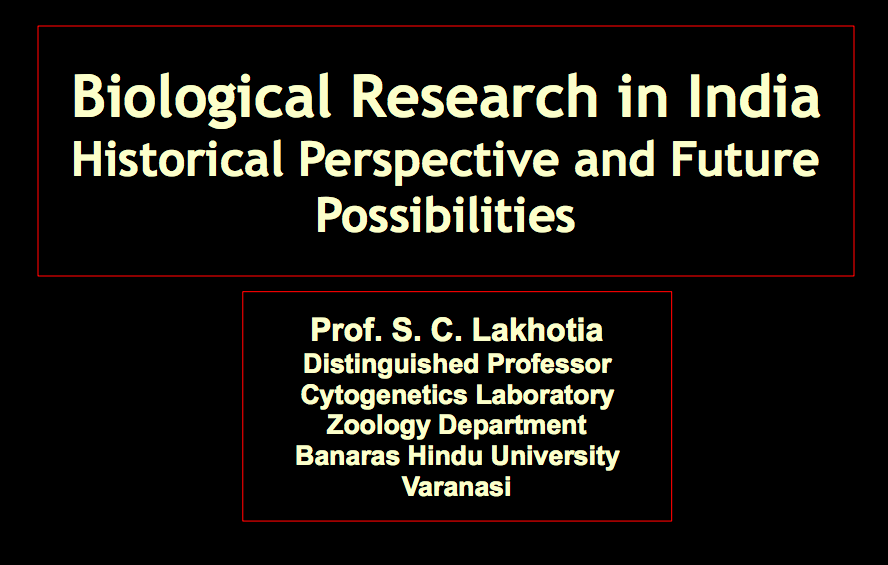 Biology research in India