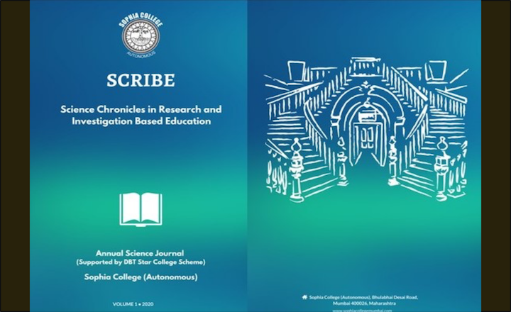 Front and back cover images of the 1st issue of SCRIBE. Photo: Authors