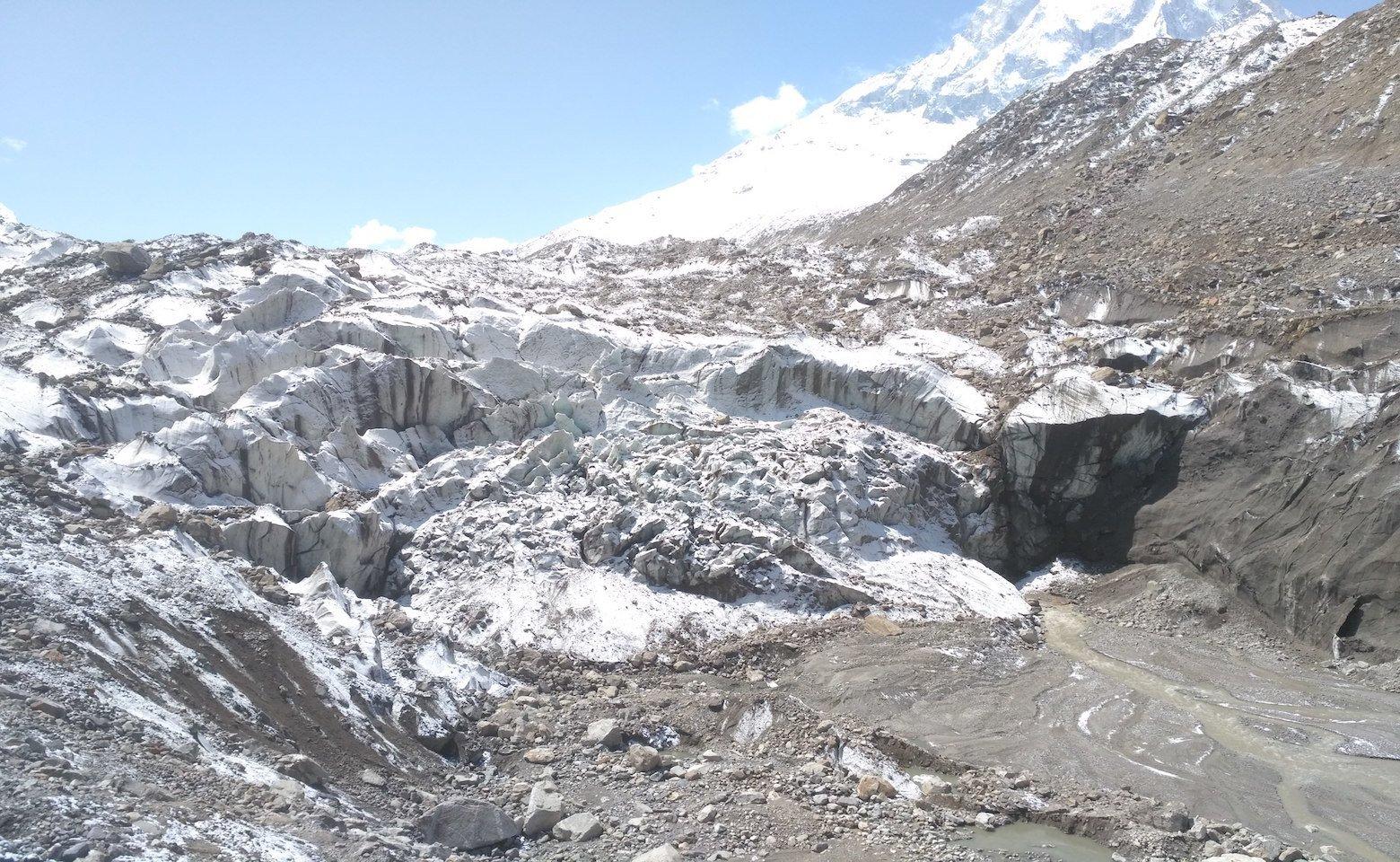 Snout Of Gangotri Glacier