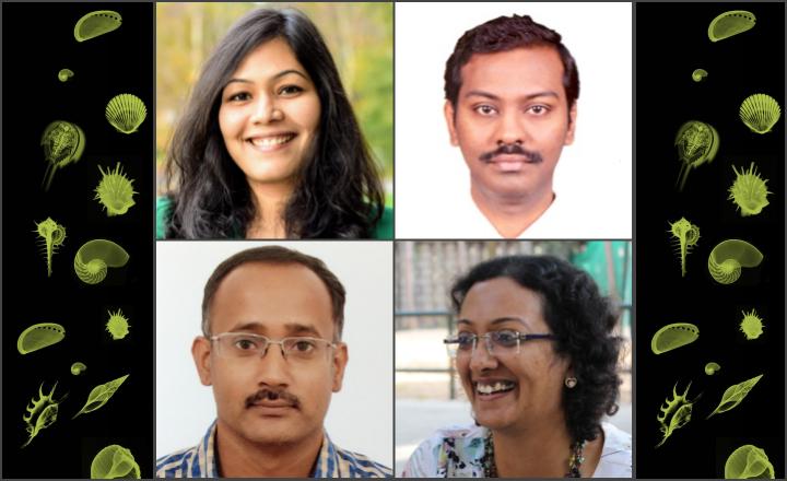 YIM2020 Organisers (Clockwise from Top left: Vaishnavi Ananthanaryanan, Aravindhan Vivekanandan, Smita Jain, Athi N Naganathan)