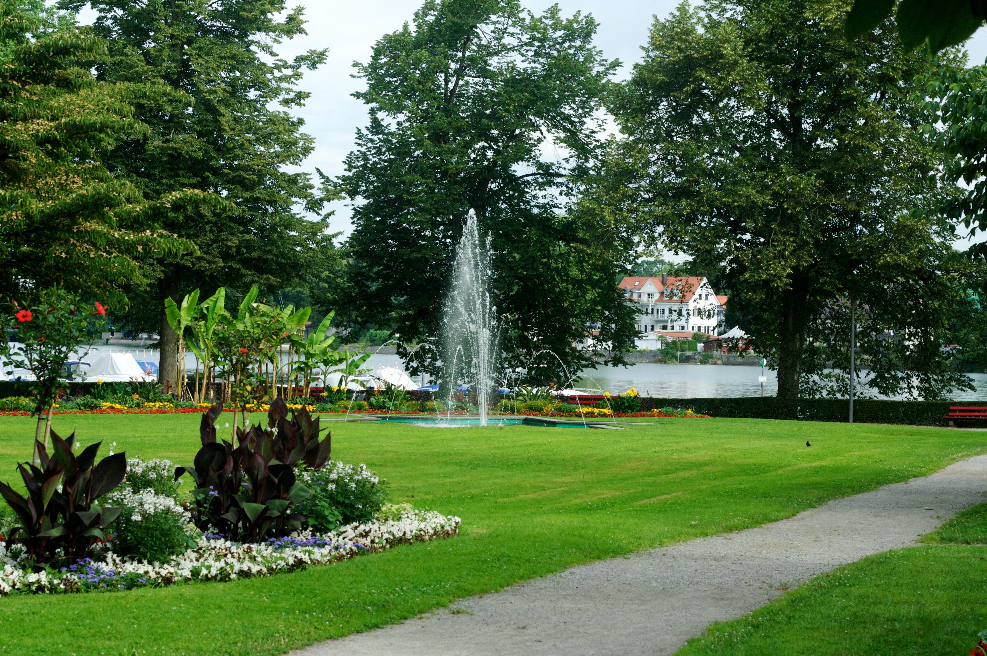 Park near Inselhalle, Lindau