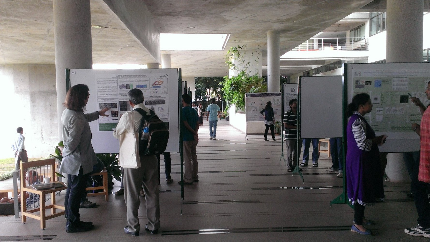 Poster session at the colonnade
