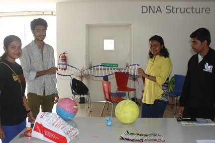 Students at IISER Pune build a model of DNA Structure