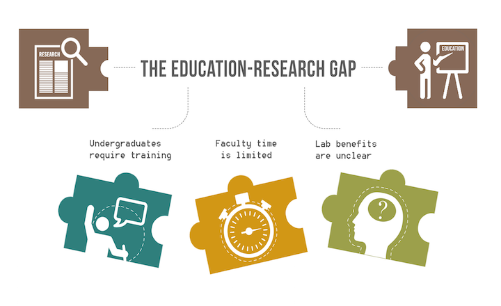 Undergraduate education-research gap