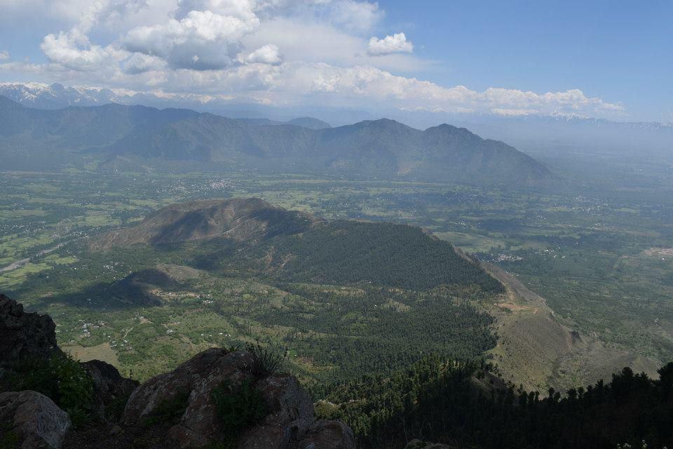 Pulwama Valley, Kashmir, with a view of Tral. Altitude 2900 metres