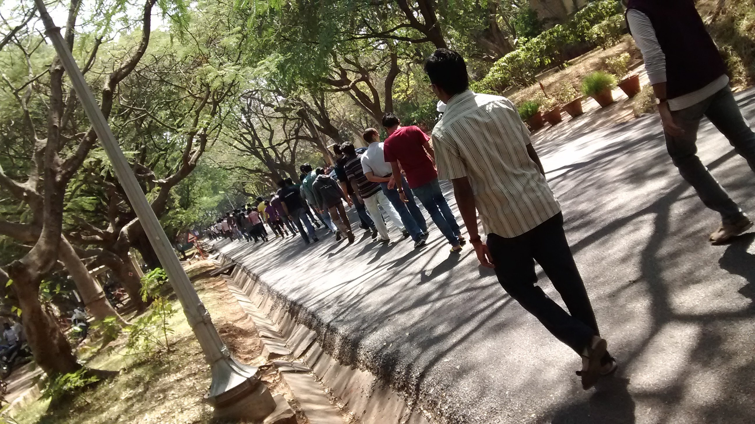 Human chain protest at IISc, Bangalore