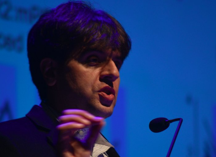 Karl Deisseroth at the JN Tata Auditorium in IISc