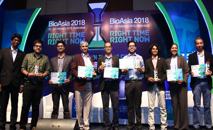 Startup representatives at Bioasia 2018