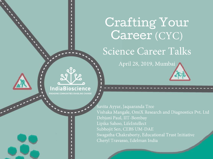 20190428 CYC Workshop Career Talks