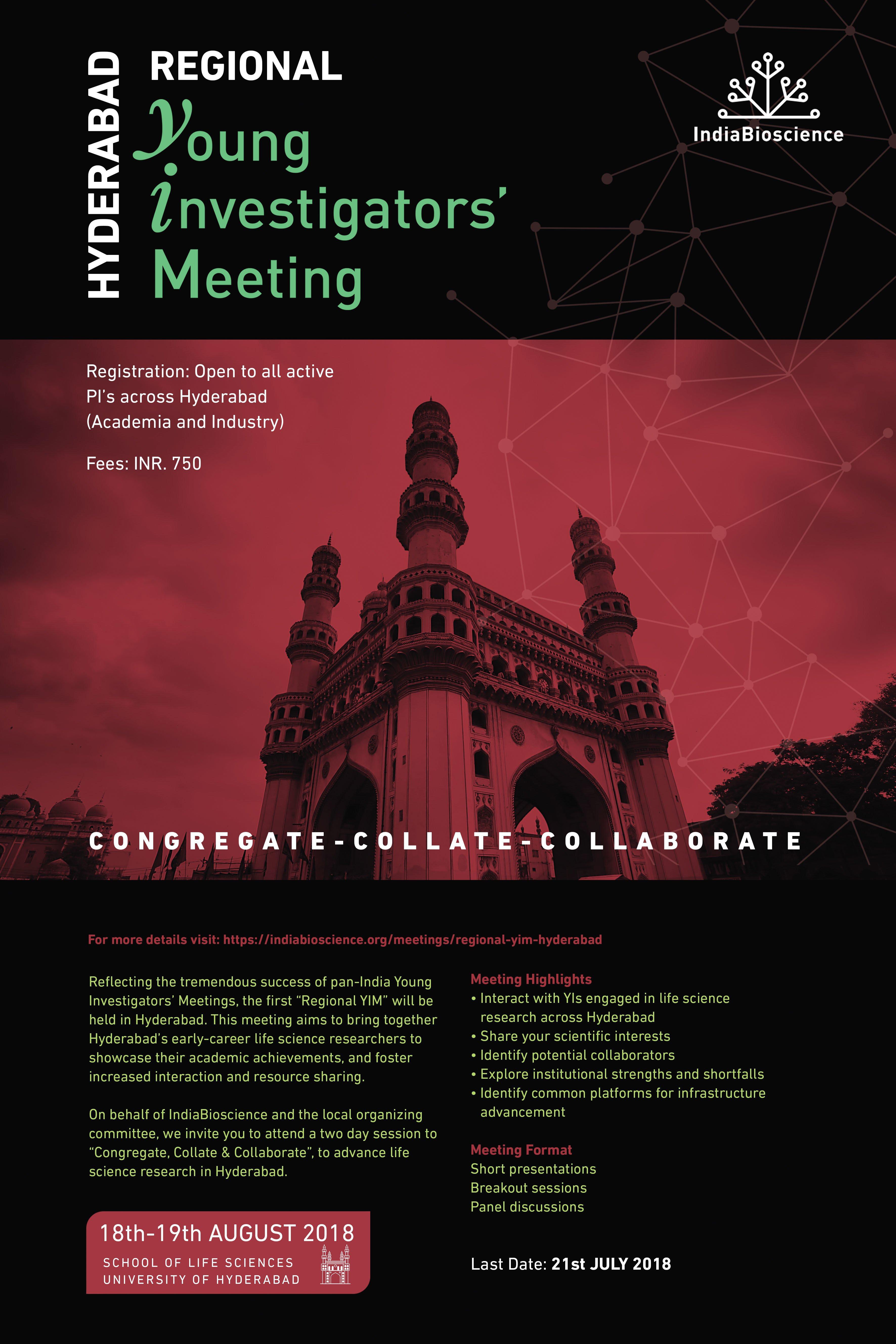 Regional YIM 2018 - Hyderabad - IndiaBioscience